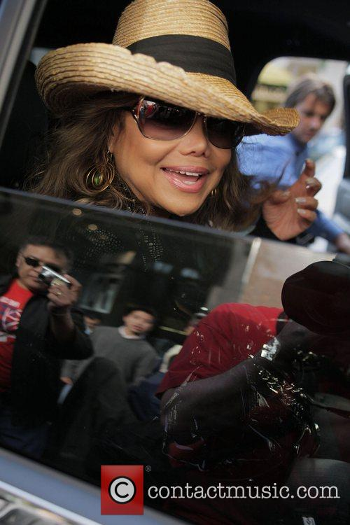 La Toya Jackson films a segment for her...