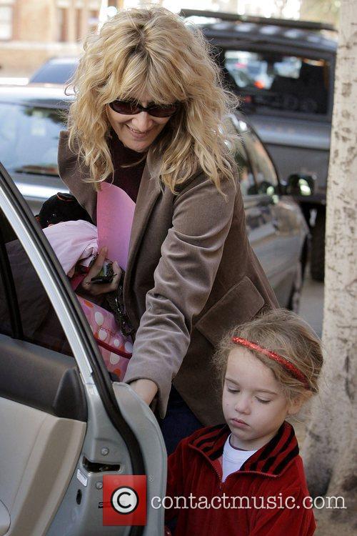 Laura Dern picks up her daughter, Jaya, from...
