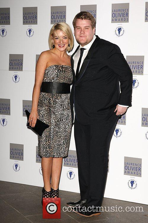Sheridan Smith and James Corden The Laurence Olivier...
