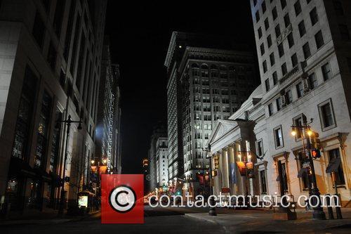 Atmosphere the set of 'Law Abiding Citizen' Philadelphia,...