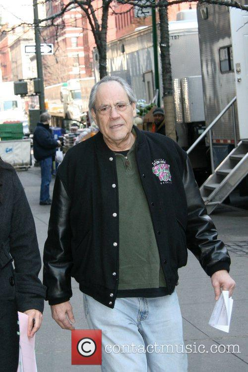 Robert Klein filming scenes for 'Law and Order:...