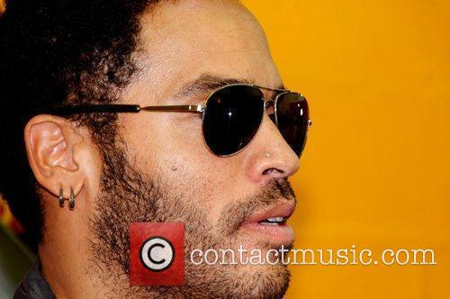 Lenny Kravitz before performing a special private live...
