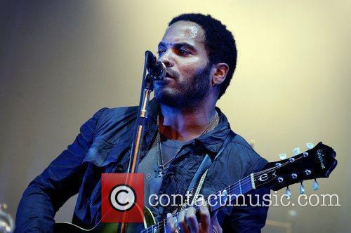 Lenny Kravitz  performs at a private concert...