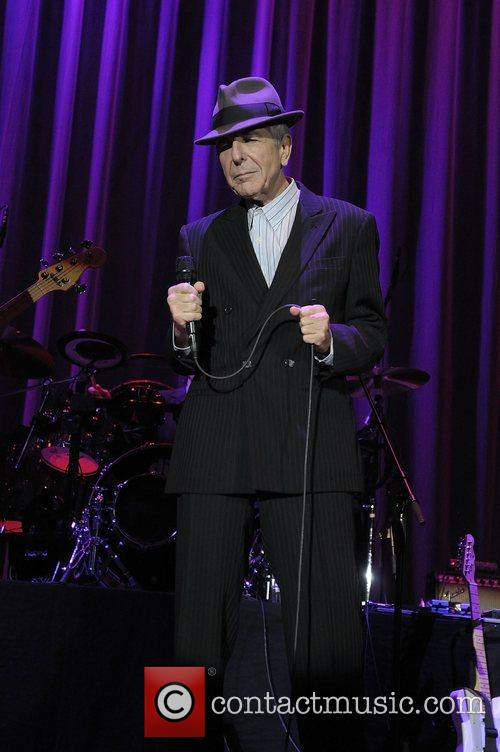 Leonard Cohen performing live at Cardiff International Arena