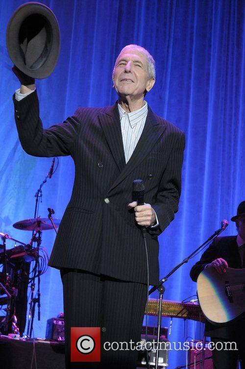 Leonard Cohen performing live at Cardiff International Arena...