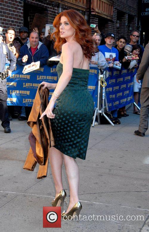 Debra Messing and David Letterman 8