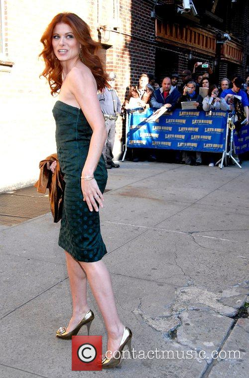 Debra Messing and David Letterman 9