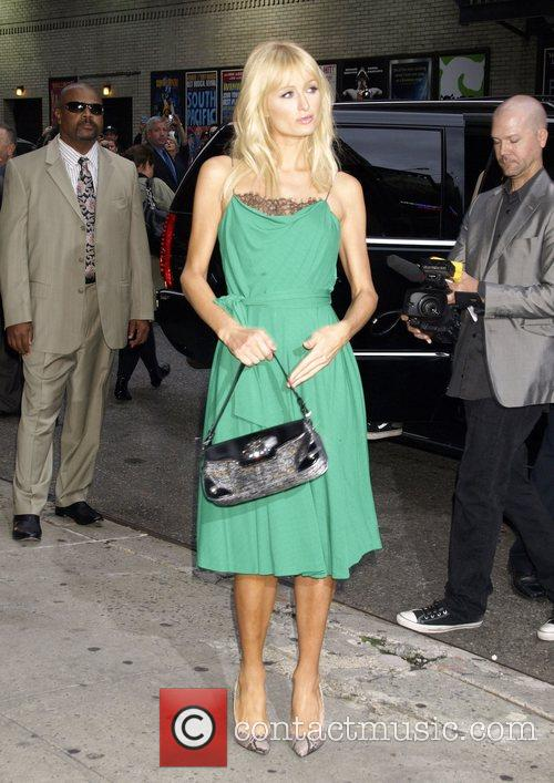 Paris Hilton, David Letterman