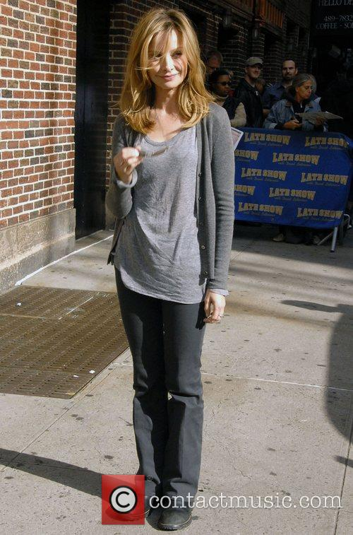 Calista Flockhart and David Letterman 4