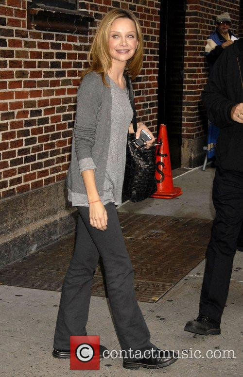 Calista Flockhart and David Letterman 3