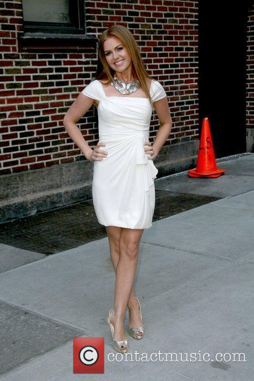 Isla Fisher and David Letterman 5