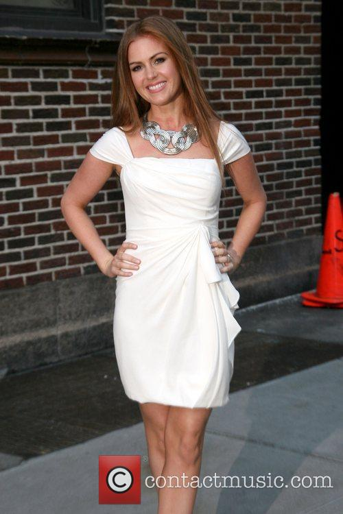 Isla Fisher, David Letterman, Ed Sullivan Theatre