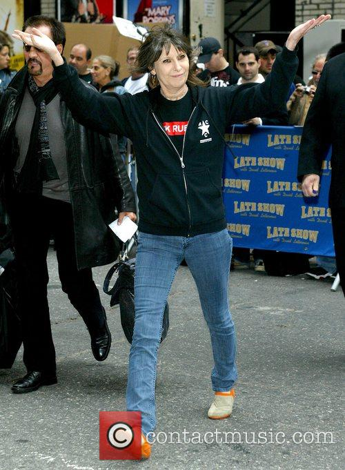 Chrissie Hynde outside the Ed Sullivan Theater for...