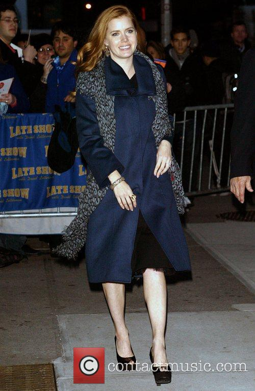 Amy Adams outside Ed Sullivan Theatre for the...