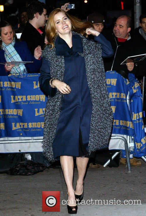 Amy Adams and David Letterman 1