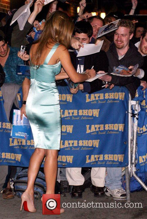 Bar Refaeli and David Letterman 5