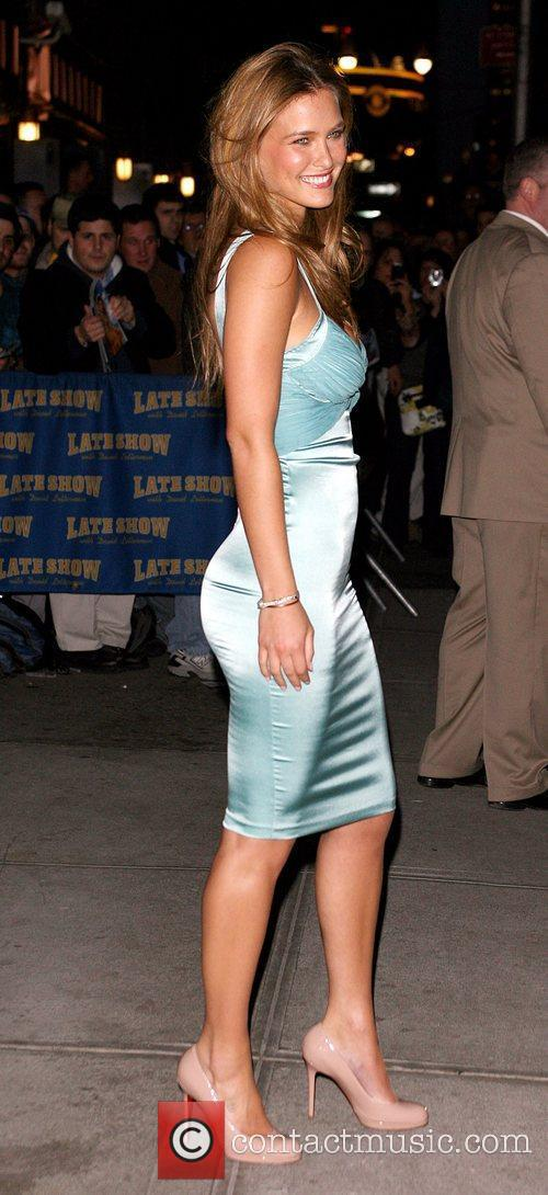 Bar Refaeli and David Letterman 1
