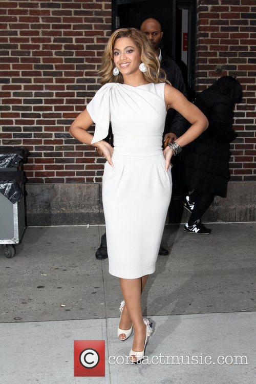 Beyonce Knowles outside the Ed Sullivan Theater for...