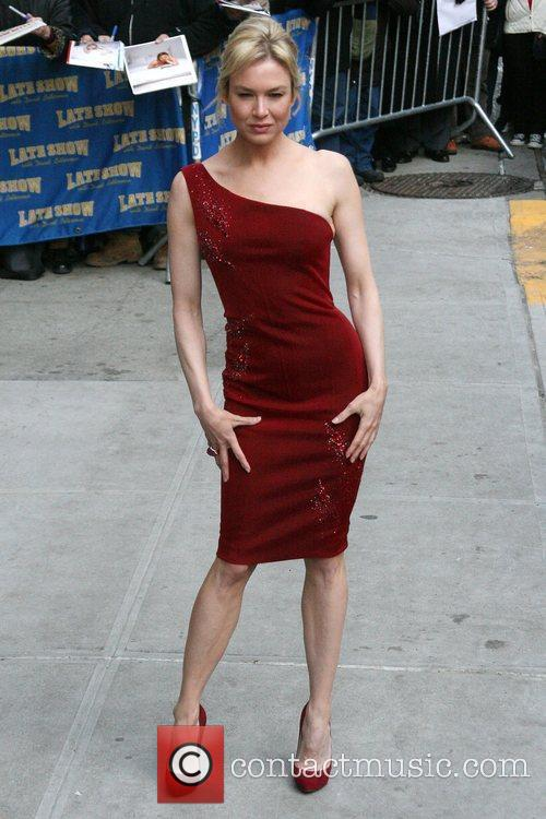 Renee Zellweger and David Letterman 10