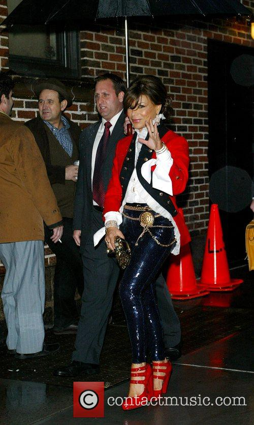 Paula Abdul and David Letterman 10