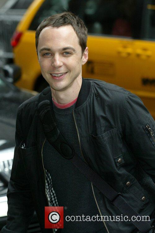 Jim Parsons outside the Ed Sullivan Theater for...
