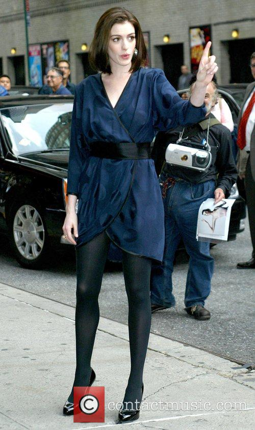 Anne Hathaway and David Letterman 2