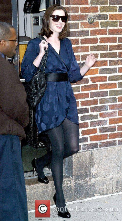 Anne Hathaway and David Letterman 12