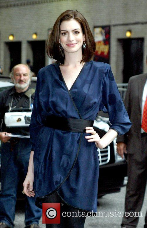 Anne Hathaway and David Letterman 6