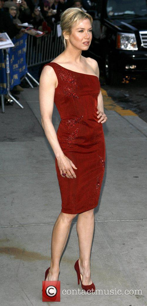 Renee Zellweger and David Letterman 17