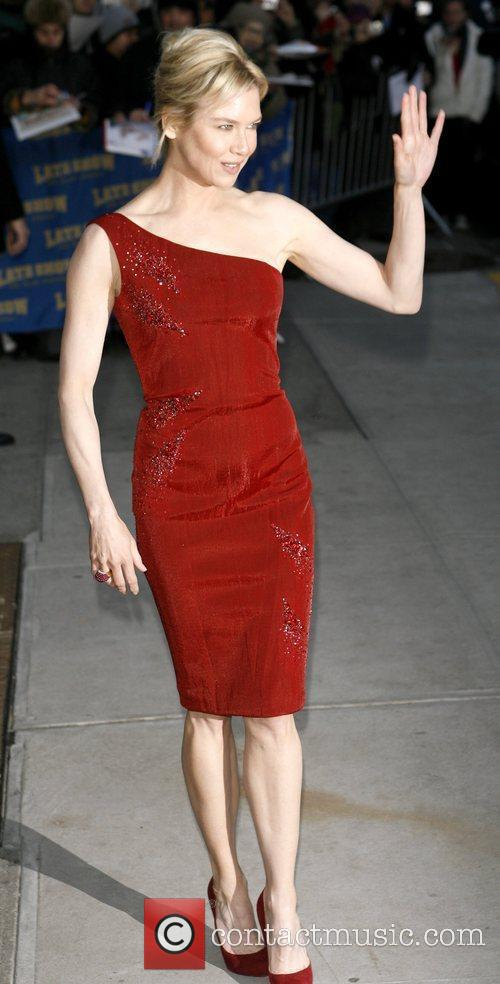 Renee Zellweger and David Letterman 15