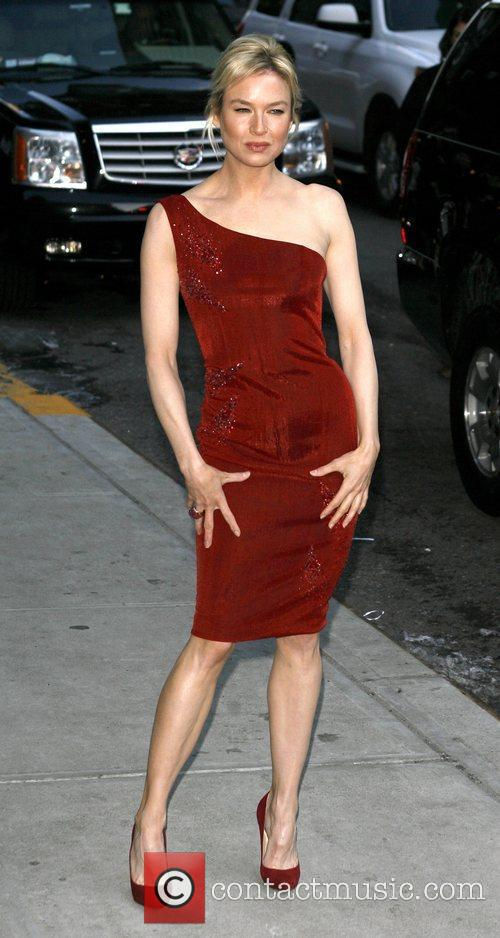 Renee Zellweger and David Letterman 16