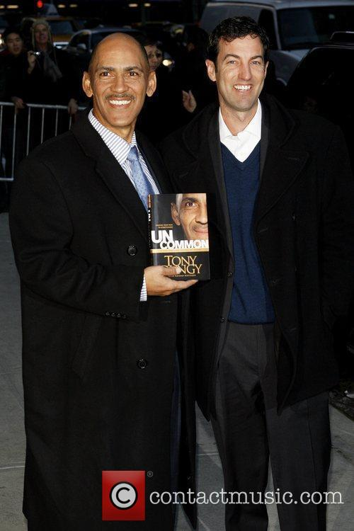 Tony Dungy and David Letterman 1
