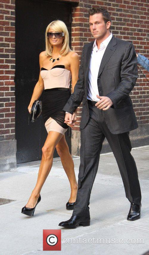 Paris Hilton and David Letterman 2