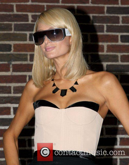 Paris Hilton and David Letterman 17
