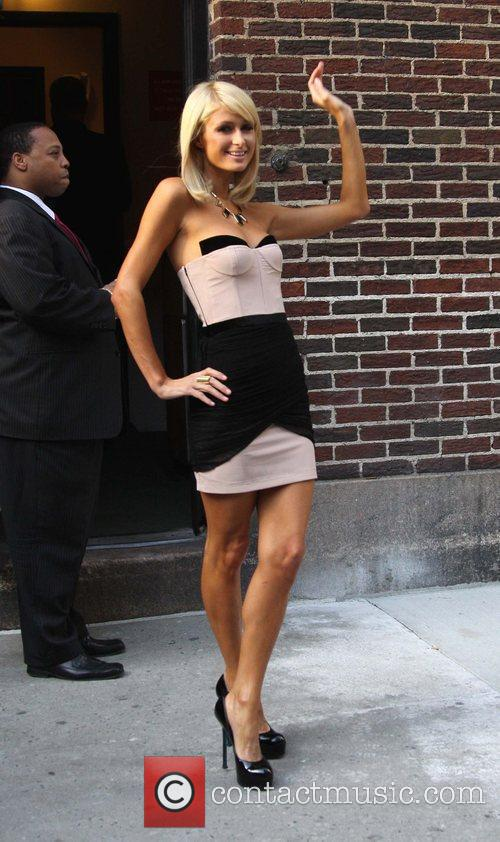 Paris Hilton and David Letterman 15