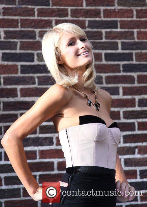 Paris Hilton and David Letterman 16