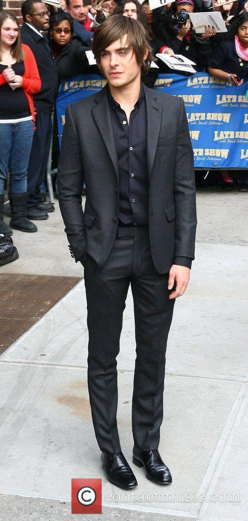 Zac Efron and David Letterman 12