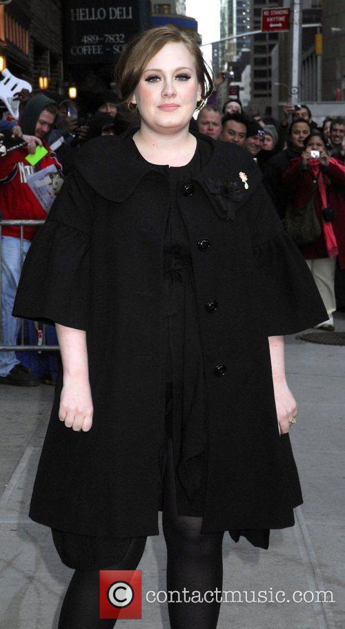 Adele and David Letterman 11
