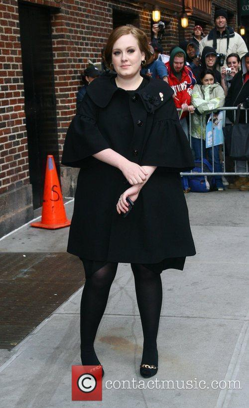Adele and David Letterman 8