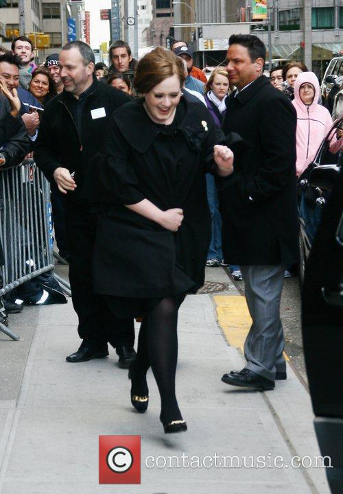 Adele and David Letterman 1