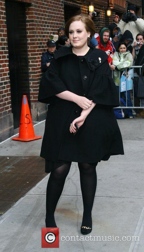 Adele and David Letterman 5