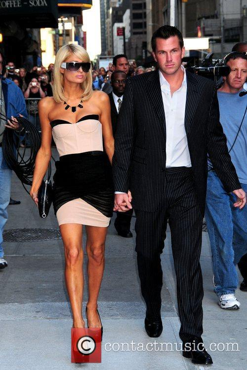 Paris Hilton and David Letterman 5