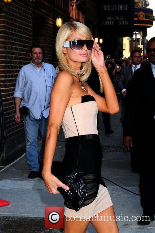 Paris Hilton and David Letterman 1