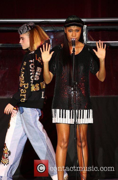 Model and VV Brown London Fashion Week Autumn/Winter...