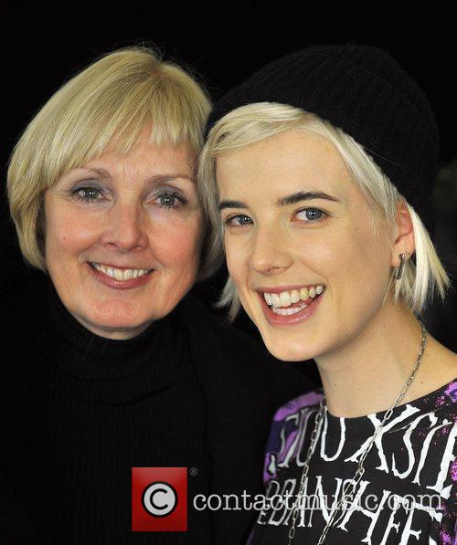 Agyness Deyn with her mother Lorraine London Fashion...