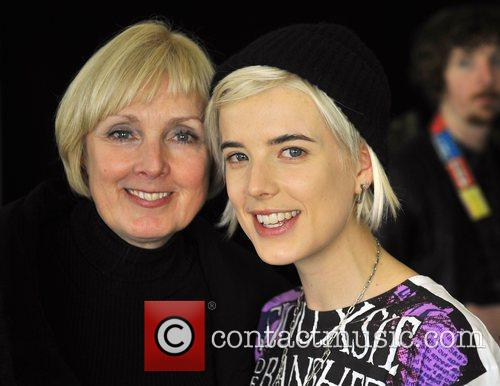Agyness Deyn with mother Lorraine London Fashion Week...