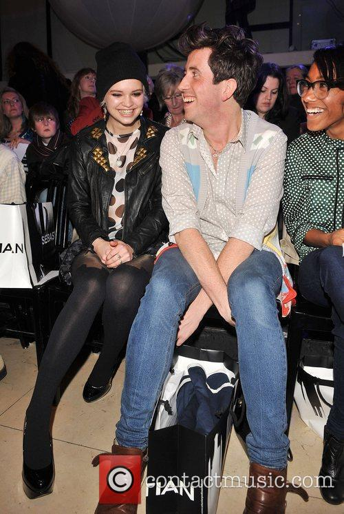 Pixie Geldof and Nick Grimshaw London Fashion Week...