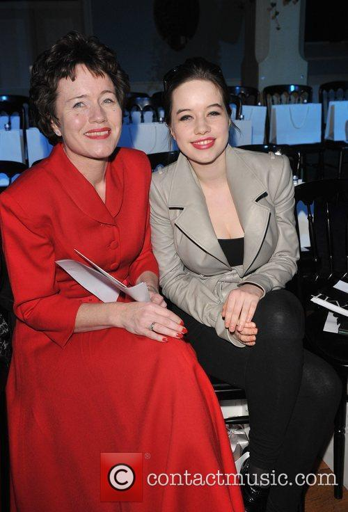 Anna Popplewell with her mother London Fashion Week...