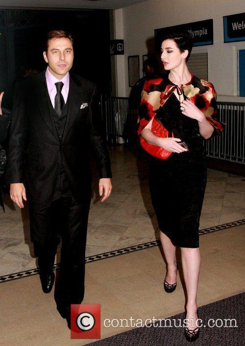 David Walliams and Erin O'Connor London Fashion Week...