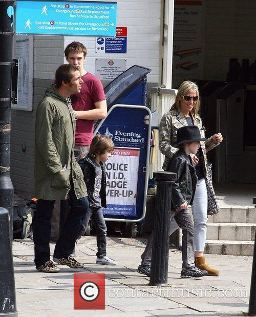 Liam Gallagher and Nicole Appleton out in London...
